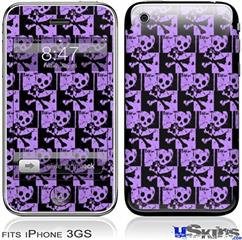 iPhone 3GS Skin - Skull Checker Purple