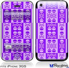 iPhone 3GS Skin - Skull And Crossbones Pattern Purple
