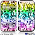 iPhone 3GS Skin - Scene Kid Sketches Rainbow