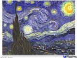 "Poster 24""x18"" - Vincent Van Gogh Starry Night"