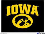 "Poster 24""x18"" - Iowa Hawkeyes Tigerhawk Oval 01 Gold on Black"