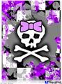 "Poster 18""x24"" - Purple Princess Skull"