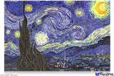 "Poster 36""x24"" - Vincent Van Gogh Starry Night"