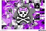 "Poster 36""x24"" - Purple Princess Skull"
