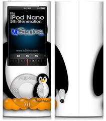 iPod Nano 5G Skin - Penguins on White