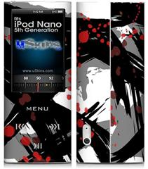 iPod Nano 5G Skin - Abstract 02 Red