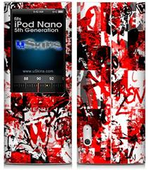 iPod Nano 5G Skin - Red Graffiti