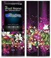 iPod Nano 5G Skin - Grungy Flower Bouquet