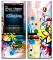 iPod Nano 5G Skin - Floral Splash