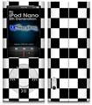 iPod Nano 5G Skin - Checkers White