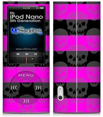 iPod Nano 5G Skin - Skull Stripes Pink