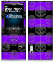 iPod Nano 5G Skin - Skull Stripes Purple