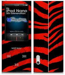 iPod Nano 5G Skin - Zebra Red