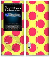 iPod Nano 5G Skin - Kearas Polka Dots Pink And Yellow