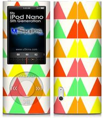 iPod Nano 5G Skin - Triangles Citrus