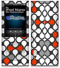 iPod Nano 5G Skin - Locknodes 05 Red