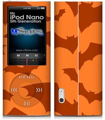 iPod Nano 5G Skin - Deathrock Bats Orange