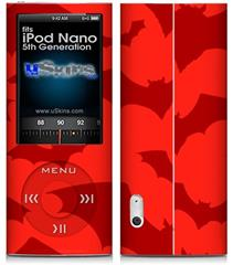 iPod Nano 5G Skin - Deathrock Bats Red