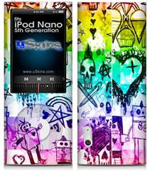 iPod Nano 5G Skin - Scene Kid Sketches Rainbow