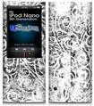 iPod Nano 5G Skin - Folder Doodles White