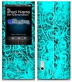 iPod Nano 5G Skin - Folder Doodles Neon Teal