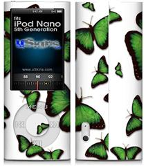iPod Nano 5G Skin - Butterflies Green