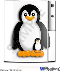Sony PS3 Skin - Penguins on White