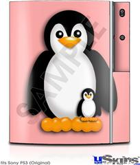 Sony PS3 Skin - Penguins on Pink