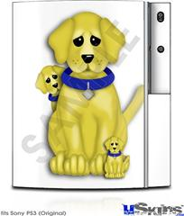 Sony PS3 Skin - Puppy Dogs on White