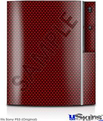 Sony PS3 Skin - Carbon Fiber Red