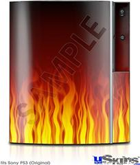 Sony PS3 Skin - Fire Flames on Black