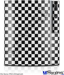 Sony PS3 Skin - Checkered Canvas Black and White