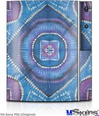 Sony PS3 Skin - Tie Dye Circles and Squares 100