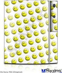 Sony PS3 Skin - Smileys on White