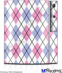 Sony PS3 Skin - Argyle Pink and Blue