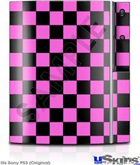 Sony PS3 Skin - Checkers Pink
