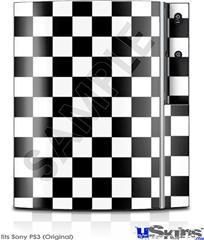 Sony PS3 Skin - Checkers White