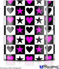 Sony PS3 Skin - Hearts And Stars Pink