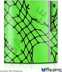 Sony PS3 Skin - Ripped Fishnets Green