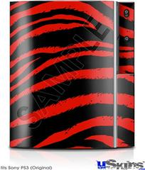 Sony PS3 Skin - Zebra Red