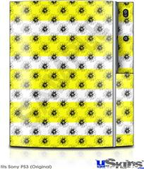Sony PS3 Skin - Kearas Daisies Stripe Yellow