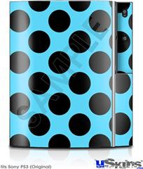 Sony PS3 Skin - Kearas Polka Dots Black And Blue
