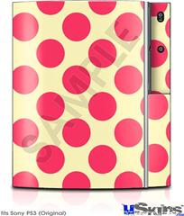 Sony PS3 Skin - Kearas Polka Dots Pink On Cream