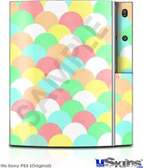 Sony PS3 Skin - Brushed Cirlces Multi Light