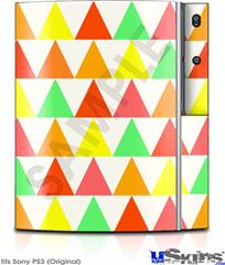 Sony PS3 Skin - Triangles Citrus