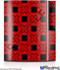 Sony PS3 Skin - Criss Cross Red