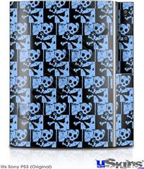 Sony PS3 Skin - Skull Checker Blue