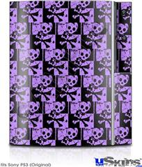 Sony PS3 Skin - Skull Checker Purple