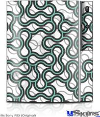 Sony PS3 Skin - Locknodes 01 Seafoam Green