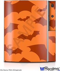 Sony PS3 Skin - Deathrock Bats Orange
